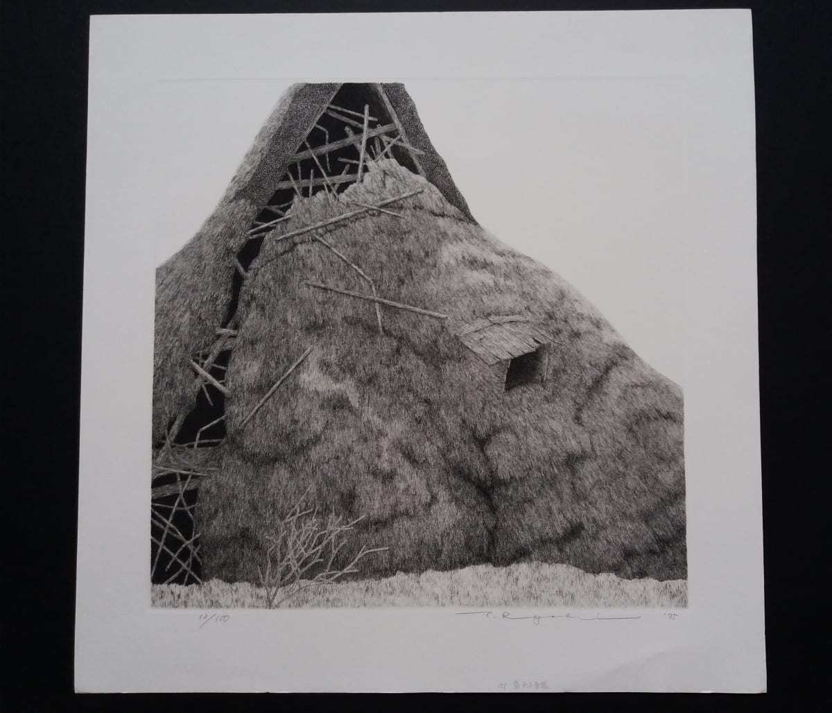 Ryohei Tanaka Ruined Farmhouse (4), 1975 Etching 36 x 36 cm image size Edition of 100