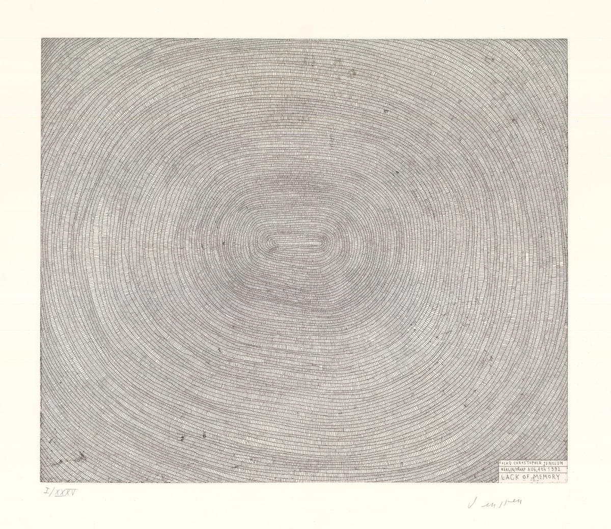 Olav Christopher Jenssen Lack of Memory, 1992 Etching 63 x 75