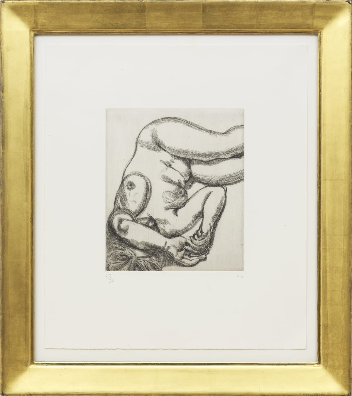 Lucian Freud Woman on a bed, 1991 Etching edition of 30 44 x 39.3 cm