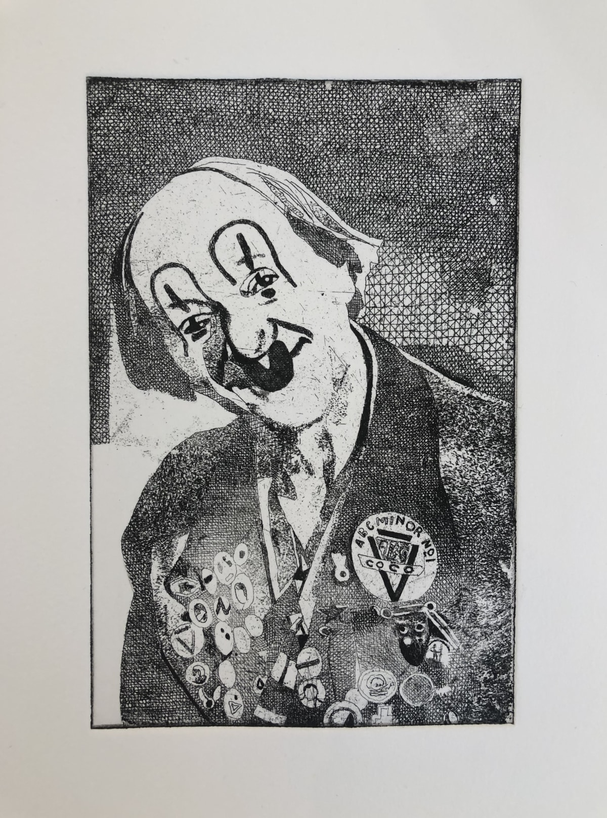 Peter Blake Coco, 2019 Etching on somerset 300gsm velvet Sheet Size: 26 x 21 cm Image size: 10 x 15 cm Edition of 25