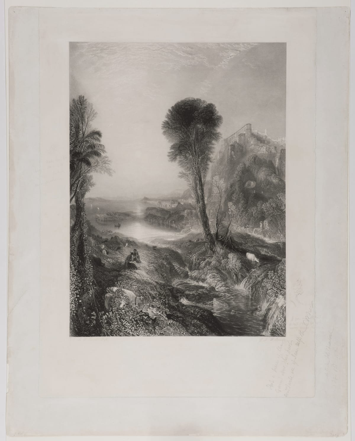 J.M.W. Turner Mercury and Argo, 1841 Engraving with hand-touching in pencil by Turner Image Size: 52.2 x 38.5 cm / Plate Size: 68.8 x 48.6 cm / Sheet Size: 75.4 x 60.2 cm