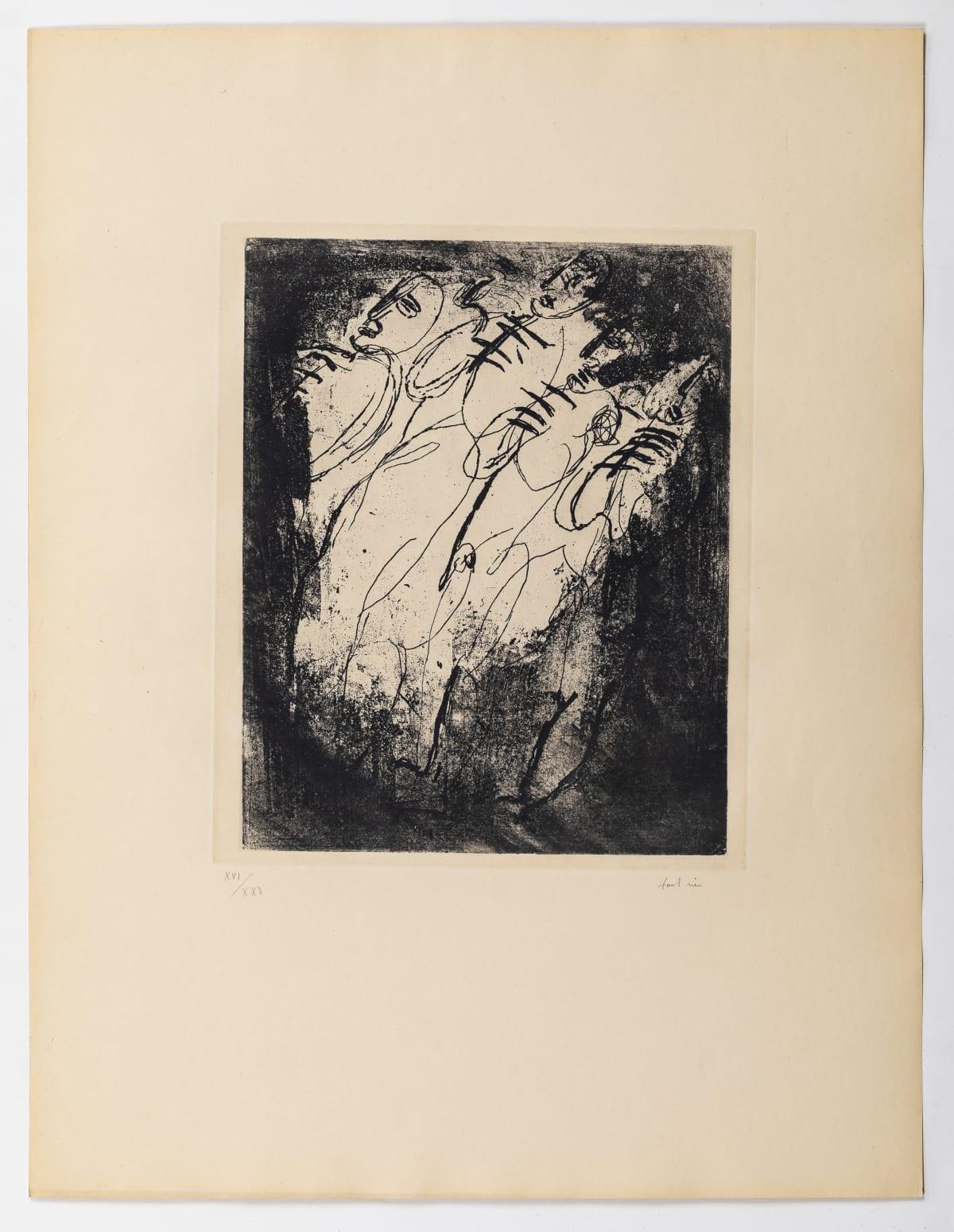 Jean Fautrier Les Fusillés , 1943 Etching Size of sheet: 66 x 50.8 cm