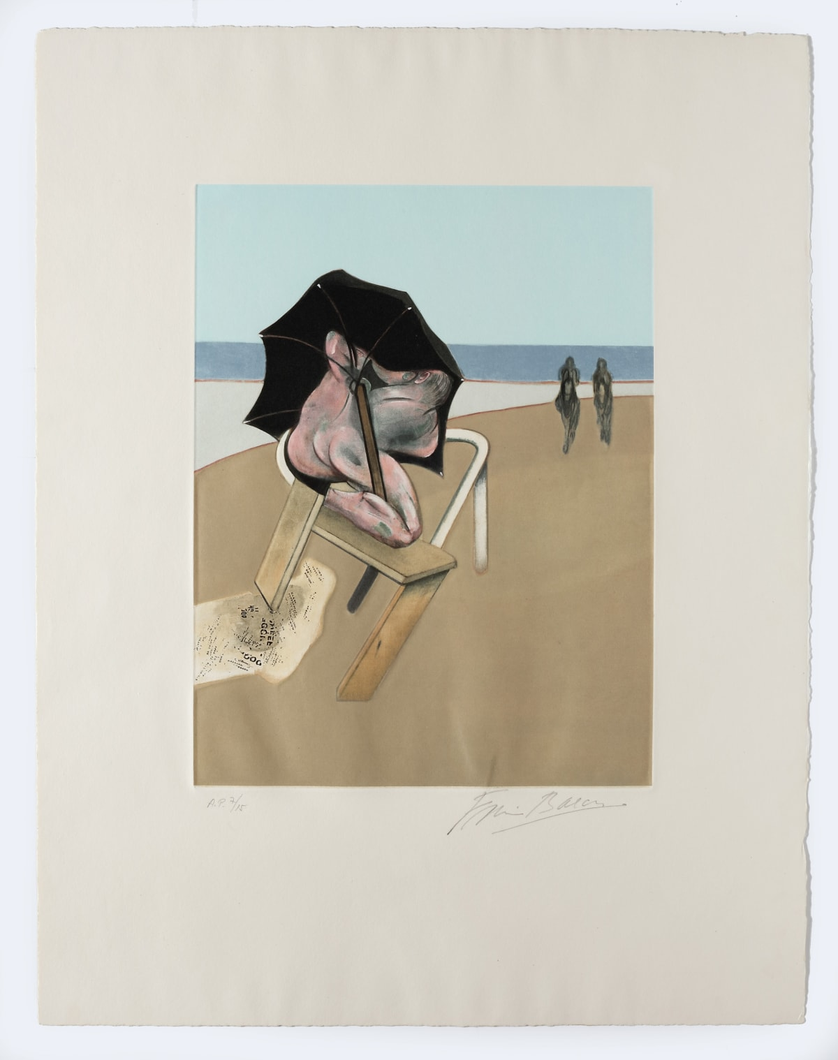 Francis Bacon Triptych 1974-1977, 1981 (left panel) Etching and aquatint on Guarro paper edition of 99 65 x 50 cm