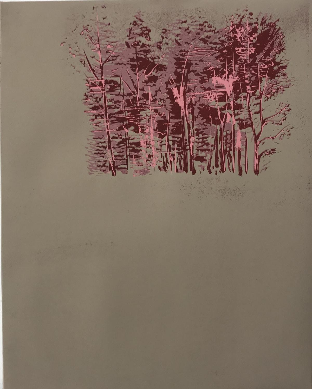 Yoko Omomi Bush (after da Vinci), 2019 Linocut 50 x 40 cm