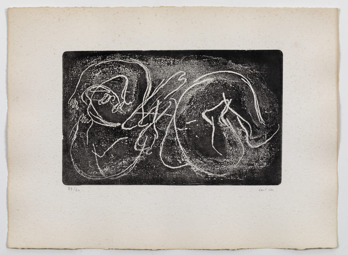 Jean Fautrier Femme Etendue I , 1941 Etching and aquatint in black. Size of sheet: 28 x 38 cm.