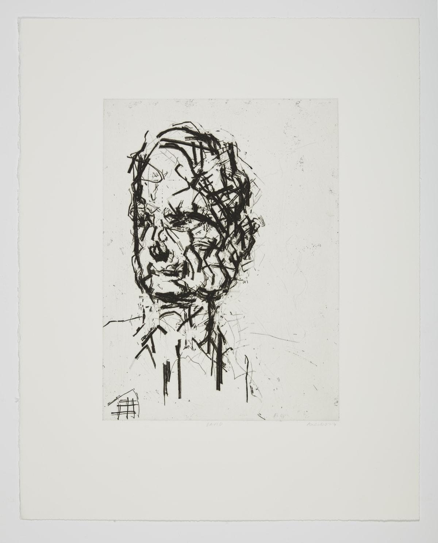 Frank Auerbach David Landau, 2007 Etching on Somerset white paper edition of 40 63 x 50.5 cm