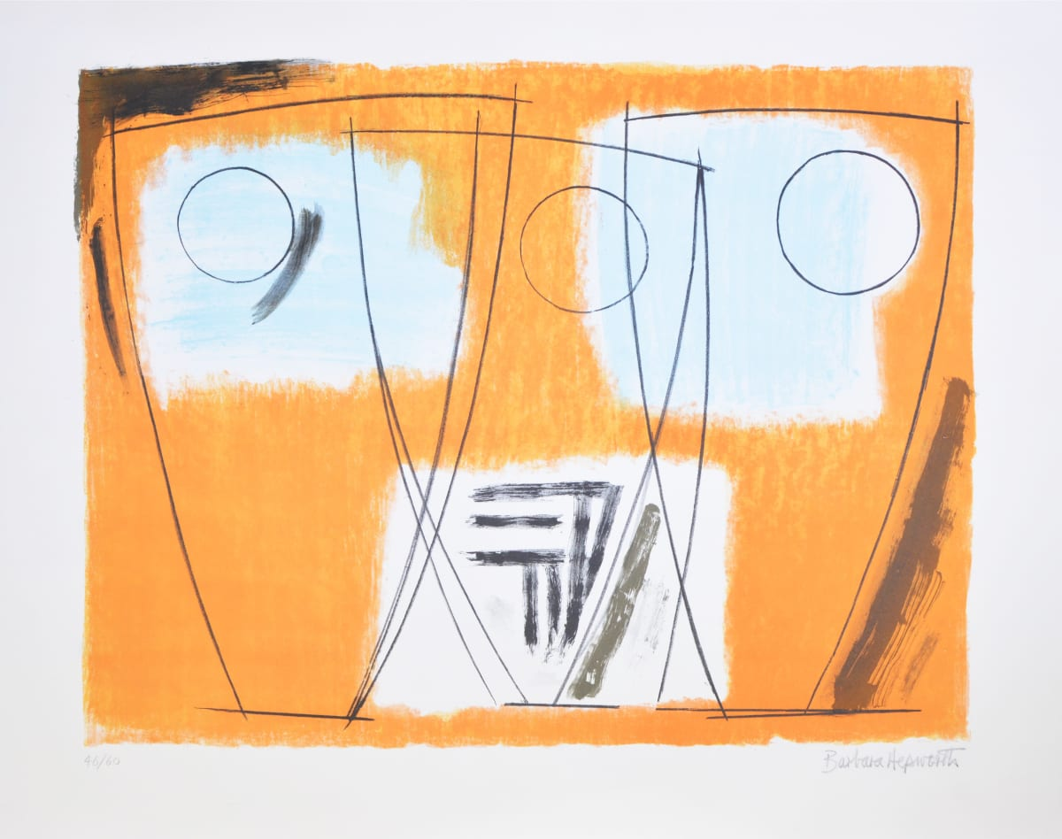 Barbara Hepworth Three Forms, 1969 Lithograph 81.6 x 58.7 cm edition of 60