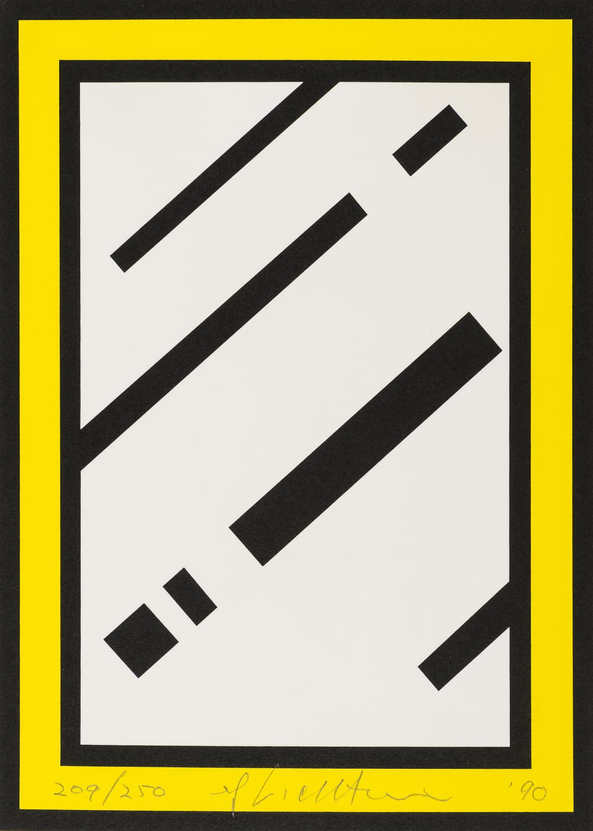 Roy Lichtenstein Mirror, 1990 Screenprint in colours, on white 4-ply museum board 25.4 x 18.5 cm Edition of 250