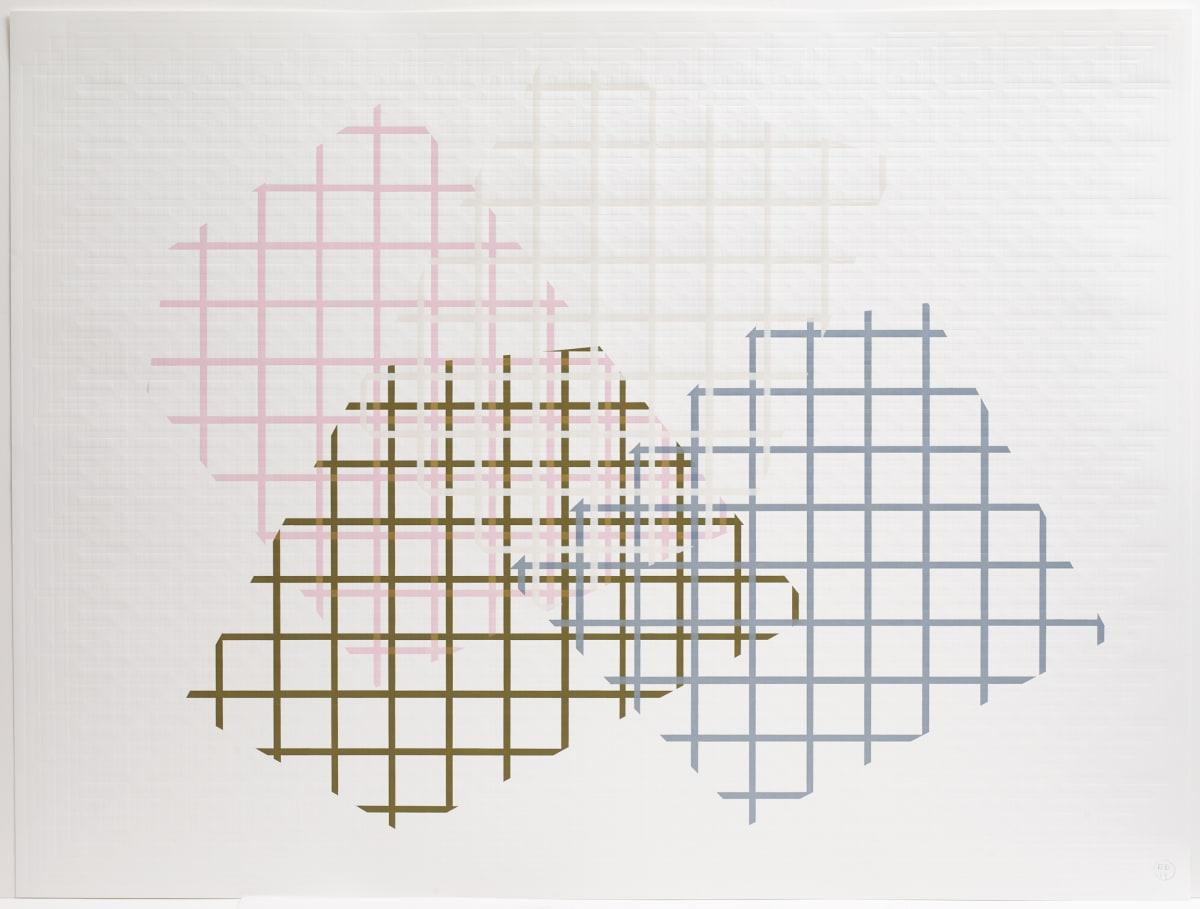 Richard Deacon Cinema F, 2019 Blockprint 123 x 163 cm Edition of 10