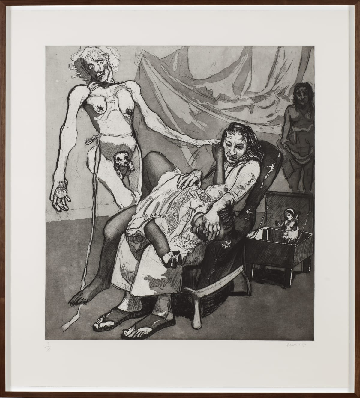 Paula Rego Lullaby, 2009 Etching and aquatint edition of 35 119.5 x 108 cm