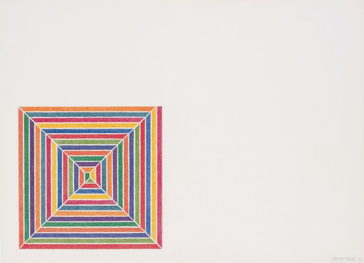Frank Stella Line Up, 1973 Lithograph in colours, on J.Green mould-made paper 40.6 x 55.9 cm Edition of 100