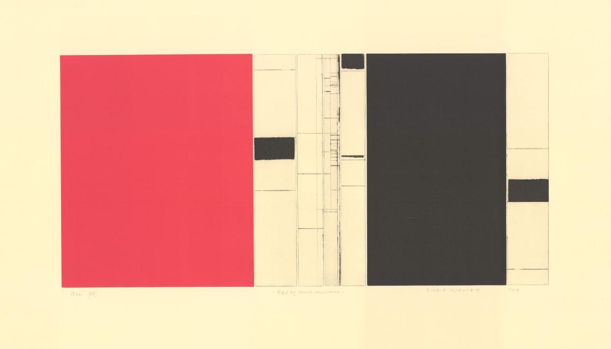 Sidsel Westbø Rød og Svart resonans, 2019 Drypoint and surface printing 74 x 135