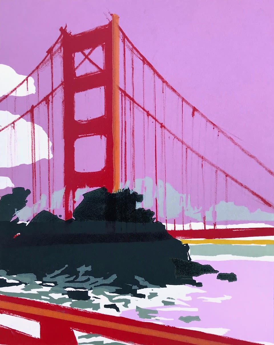 Rachel Gracey RE San Francisco Relief and lithography 28 x 22.5 cm