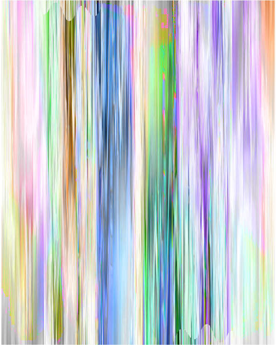 Peter Saville Waste Painting #8.10, 1998-2019 Inkjet on Rag Photographique mounted onto aluminium 120 x 96 cm Edition of 10