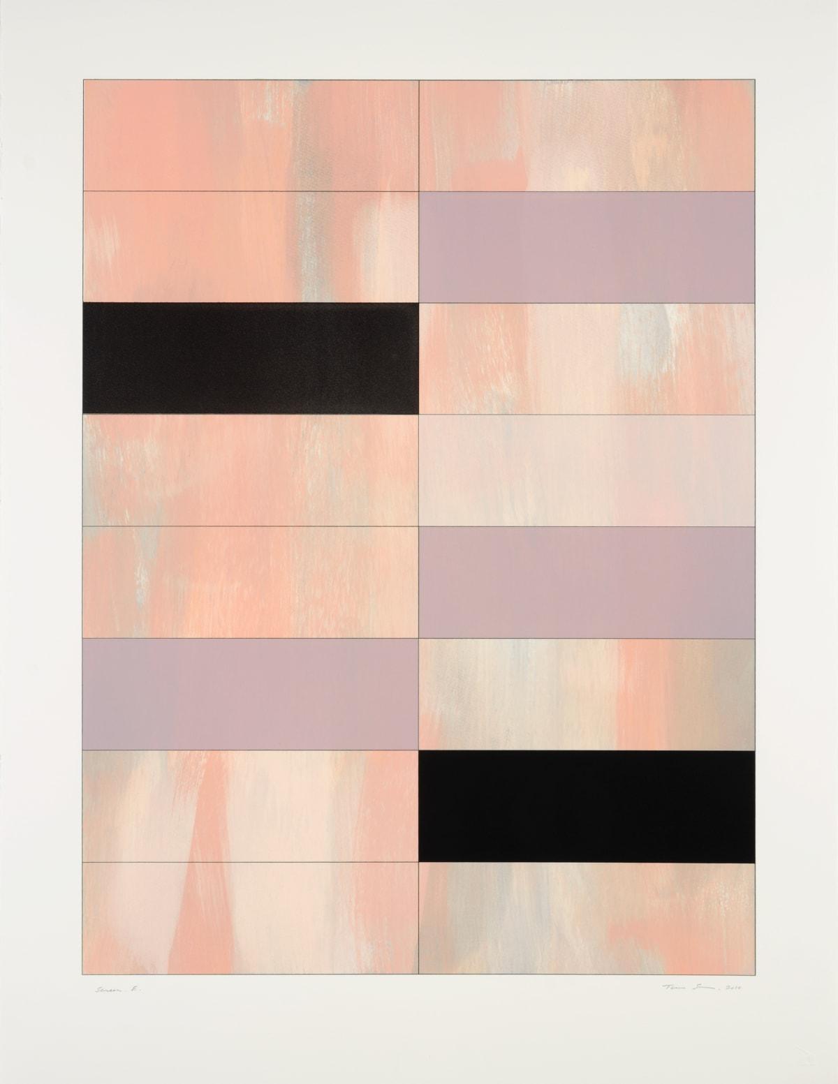 Trevor Sutton b.1948 Screen E, 2010 Monoprint Image: 71 x 53.5 cm Paper: 86.5 x 66 cm