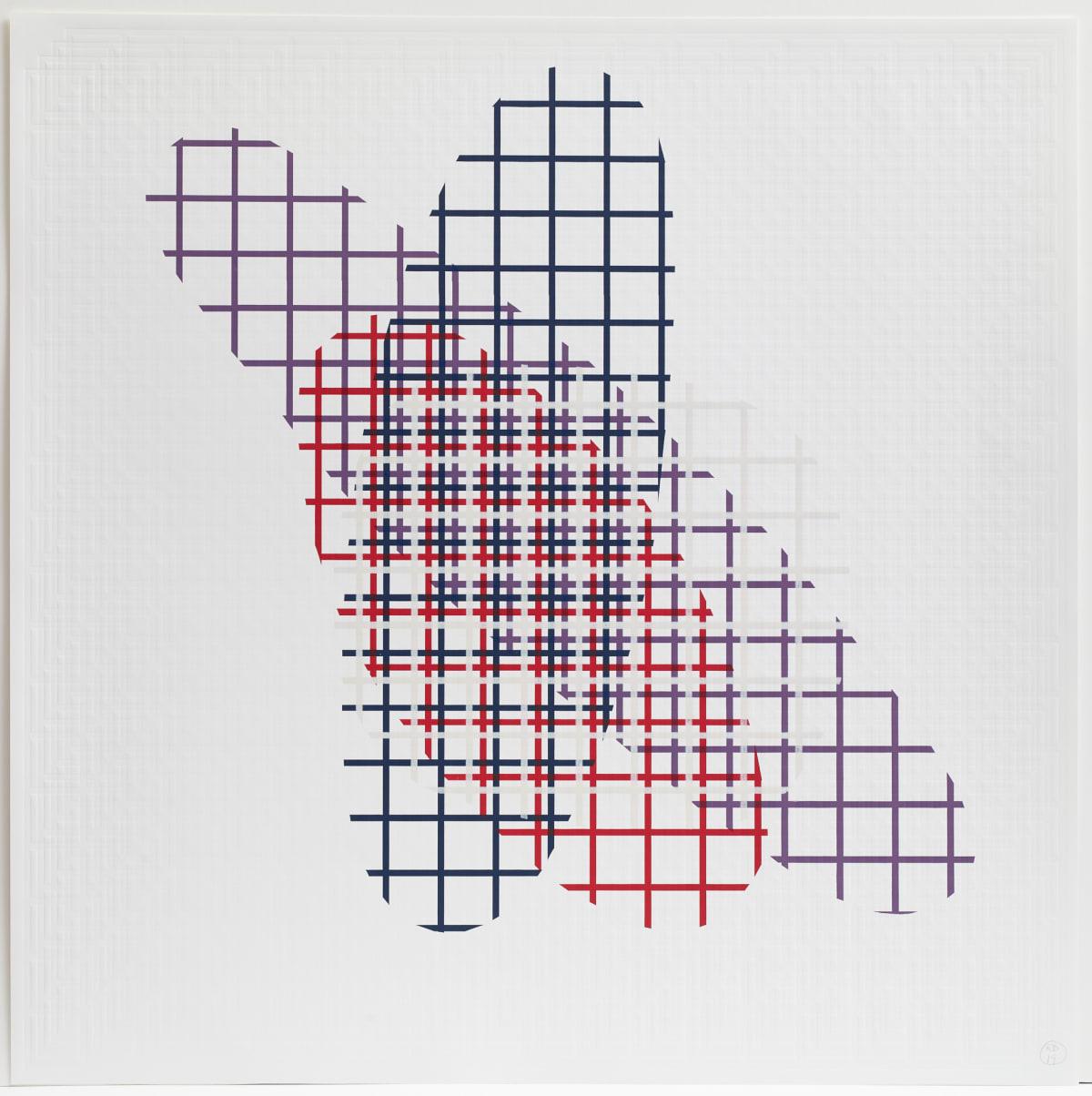 Richard Deacon Cinema D, 2019 Blockprint 123.7 x 124 cm Edition of 10