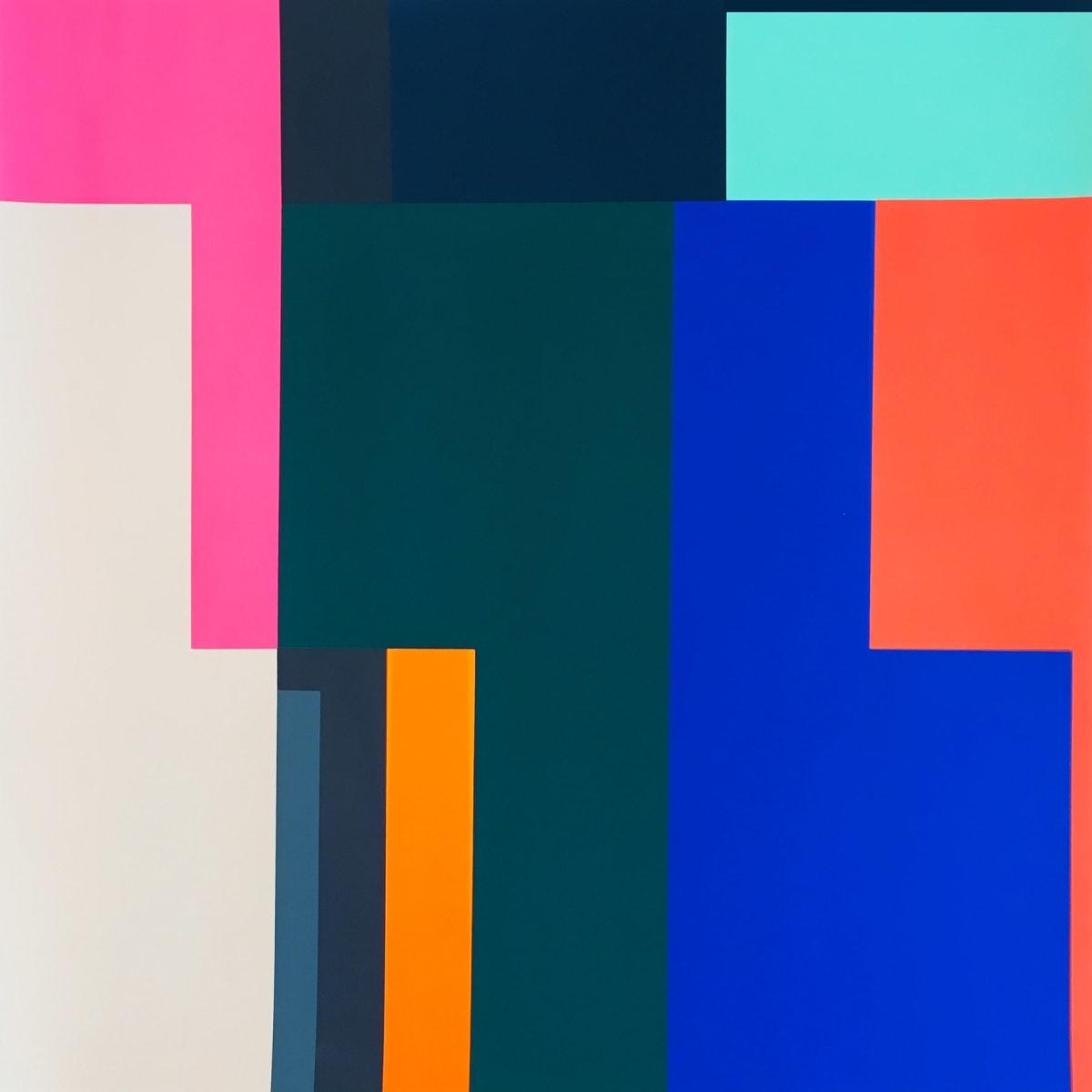 Frea Buckler Play, 2019 Unique screenprint on paper 90 x 90cm