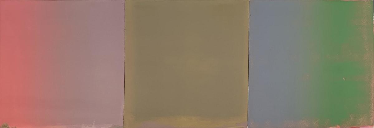 Stephen Pentak 2019,IX.II, 2019 oil on panel 14 x 42 in.