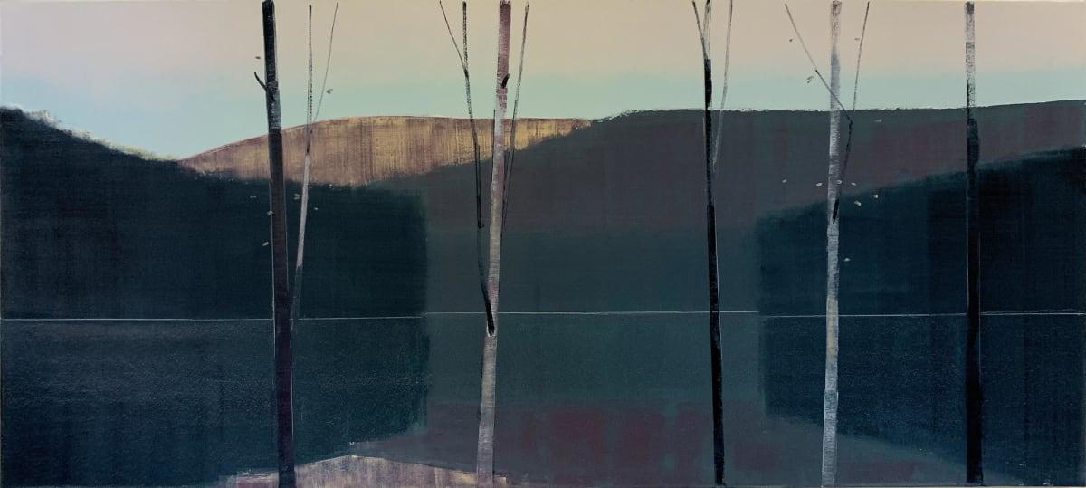 Stephen Pentak 2019, VI.II, 2019 oil on panel 34 x 76 in.