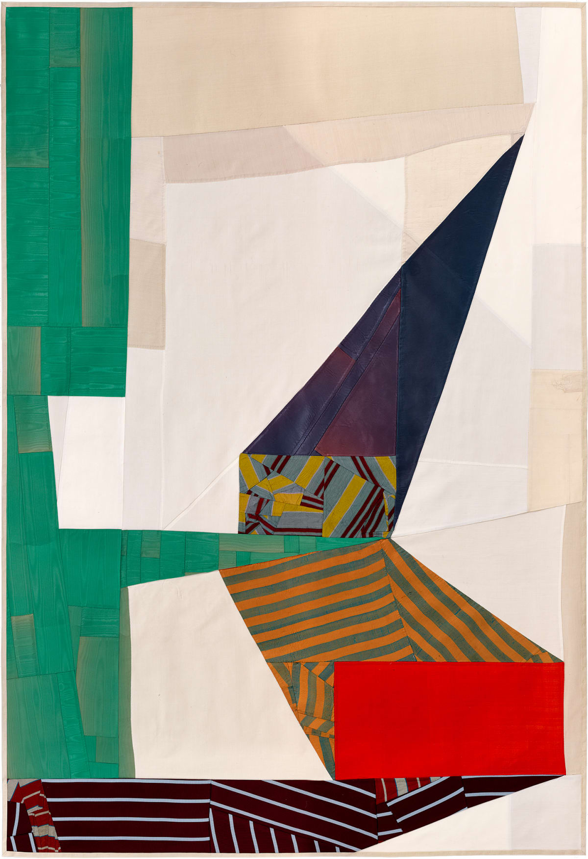 Debra Smith Not Looking, 2, 2016 pieced vintage silk 58 x 40 in.