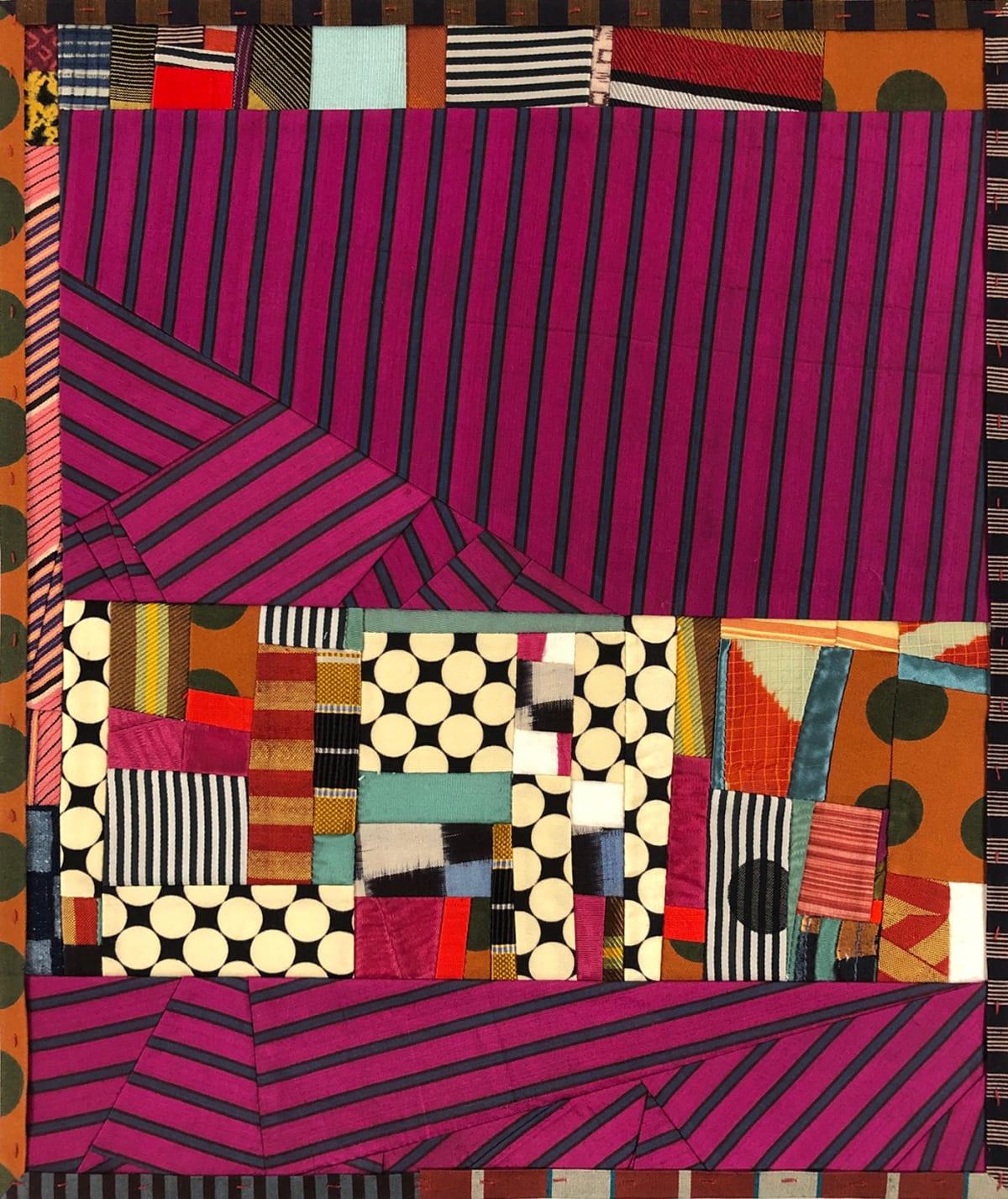 Debra Smith Talking Stories 7, 2020 pieced vintage silk 13 1/2 x 11 1/4 in