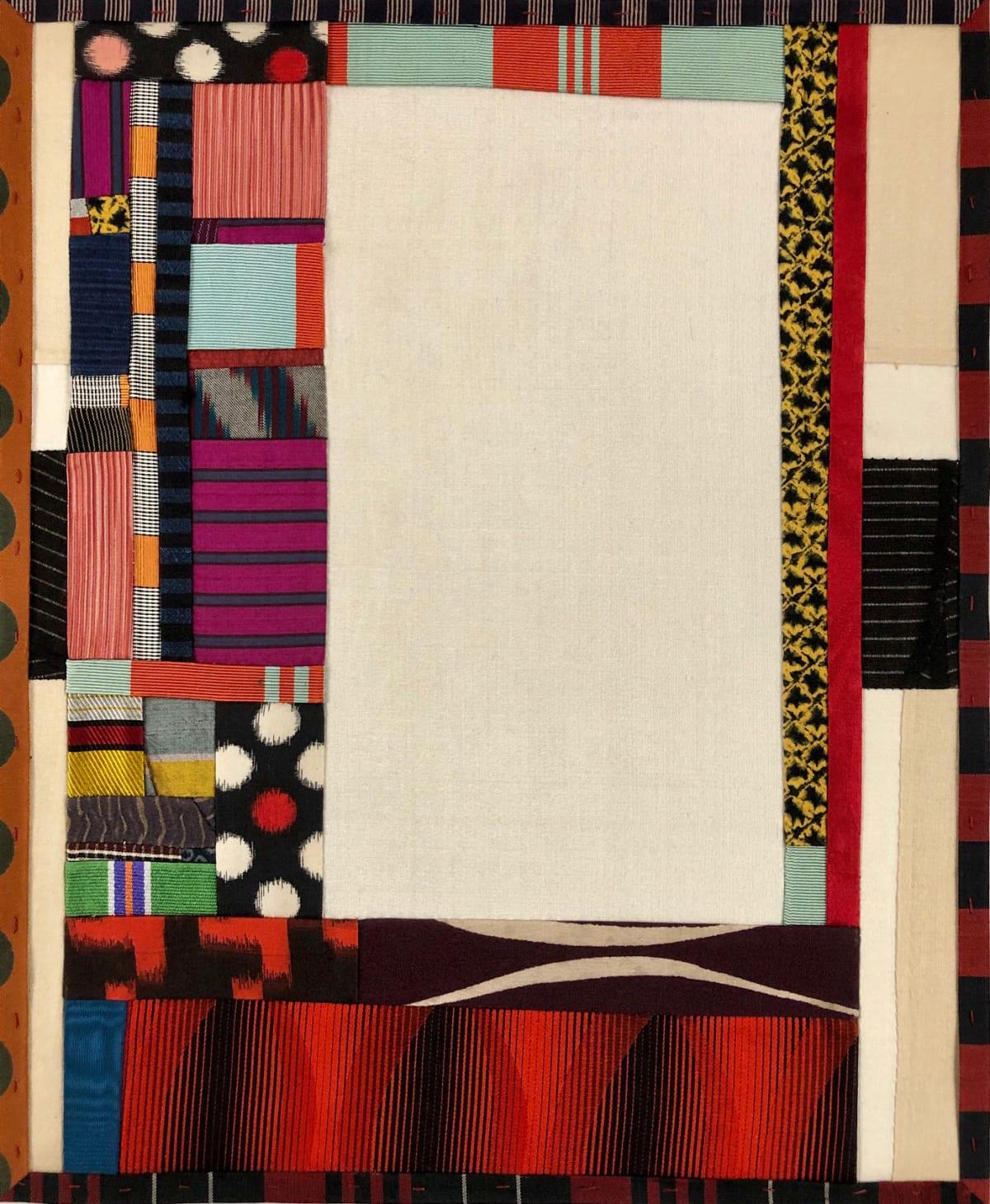 Debra Smith Talking Stories 2, 2020 pieced vintage silk 13 1/2 x 11 1/4 in