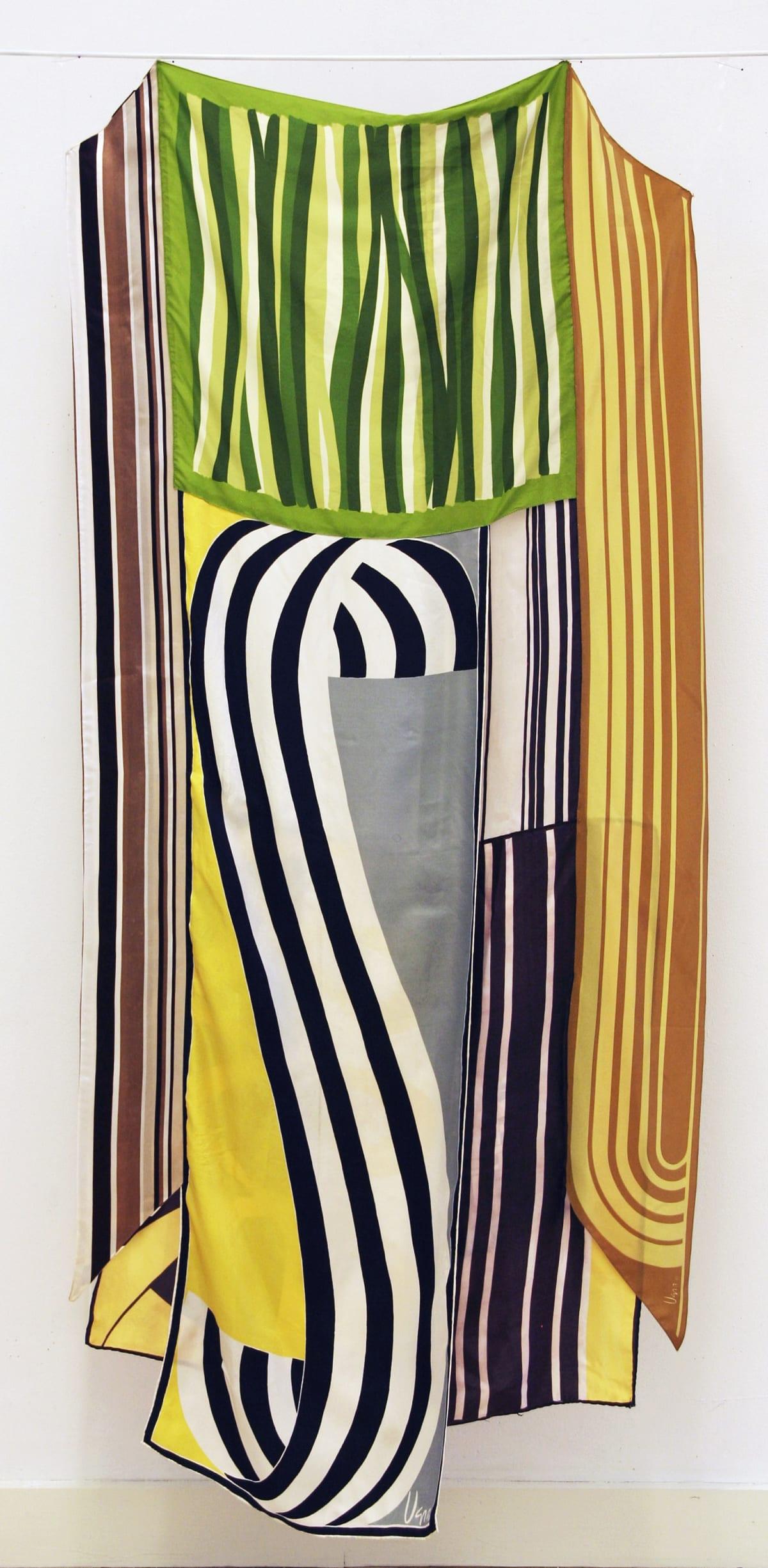 Deborah Zlotsky Bandwidth, 2019 vintage scarves 63 x 31 in.