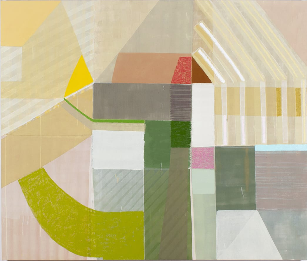 Ky Anderson Wind, 2019 Pigment, acrylic and oil on raw canvas 54 x 64 in.
