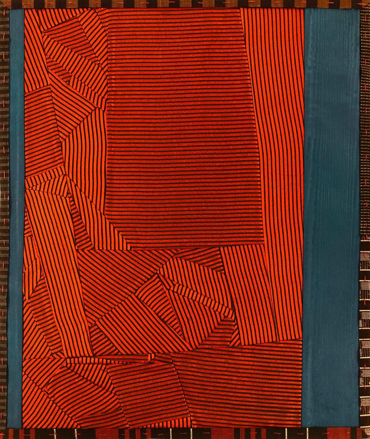 Debra Smith Talking Stories 8, 2020 pieced vintage silk 13 1/2 x 11 1/4 in