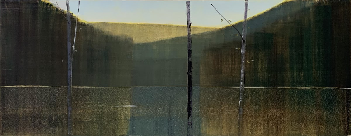 Stephen Pentak 2019,X.III, 2019 oil on panel 28 x 72
