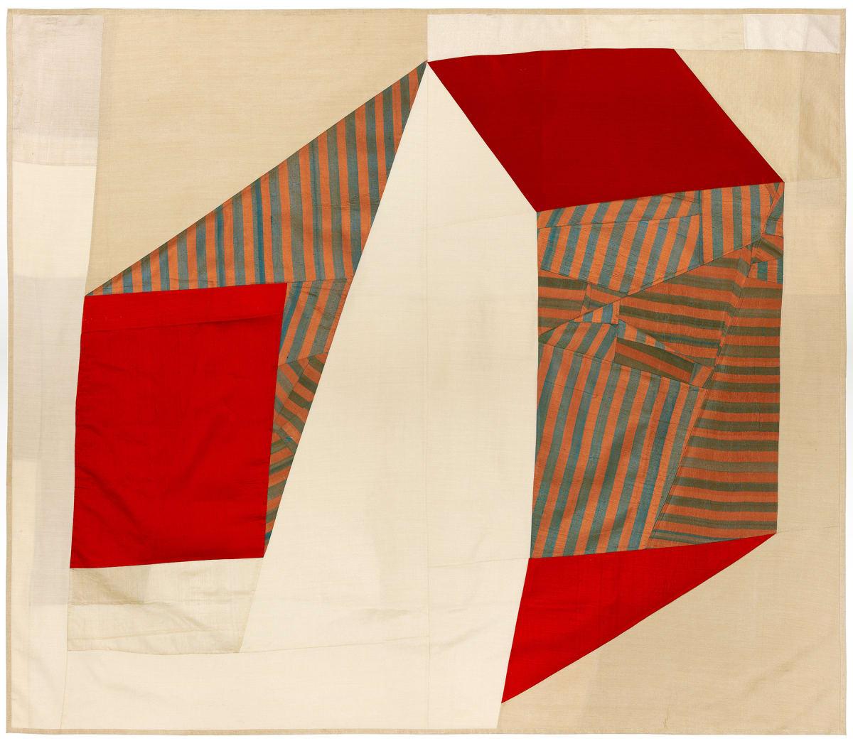 Debra Smith Silence is Unclear, 1, 2015 pieced vintage silk 45 x 53 in.