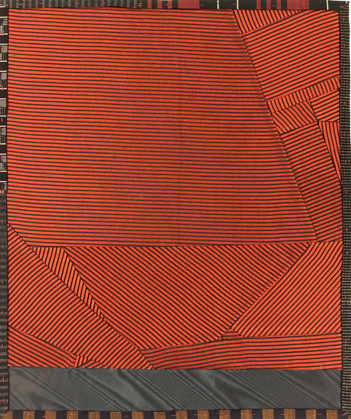 Debra Smith Talking Stories 3, 2020 pieced vintage silk 13 1/2 x 11 1/4 in