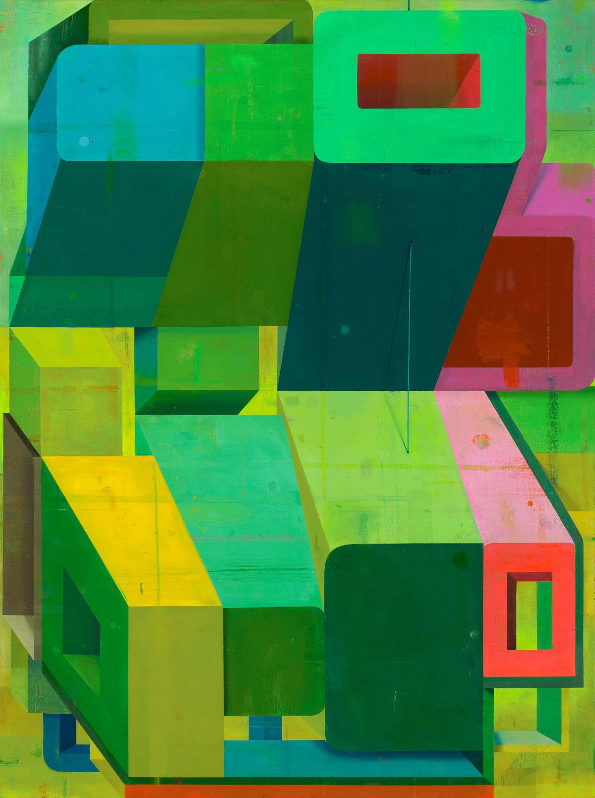 Deborah Zlotsky Loophole, 2019 oil on canvas 36 x 48 in.