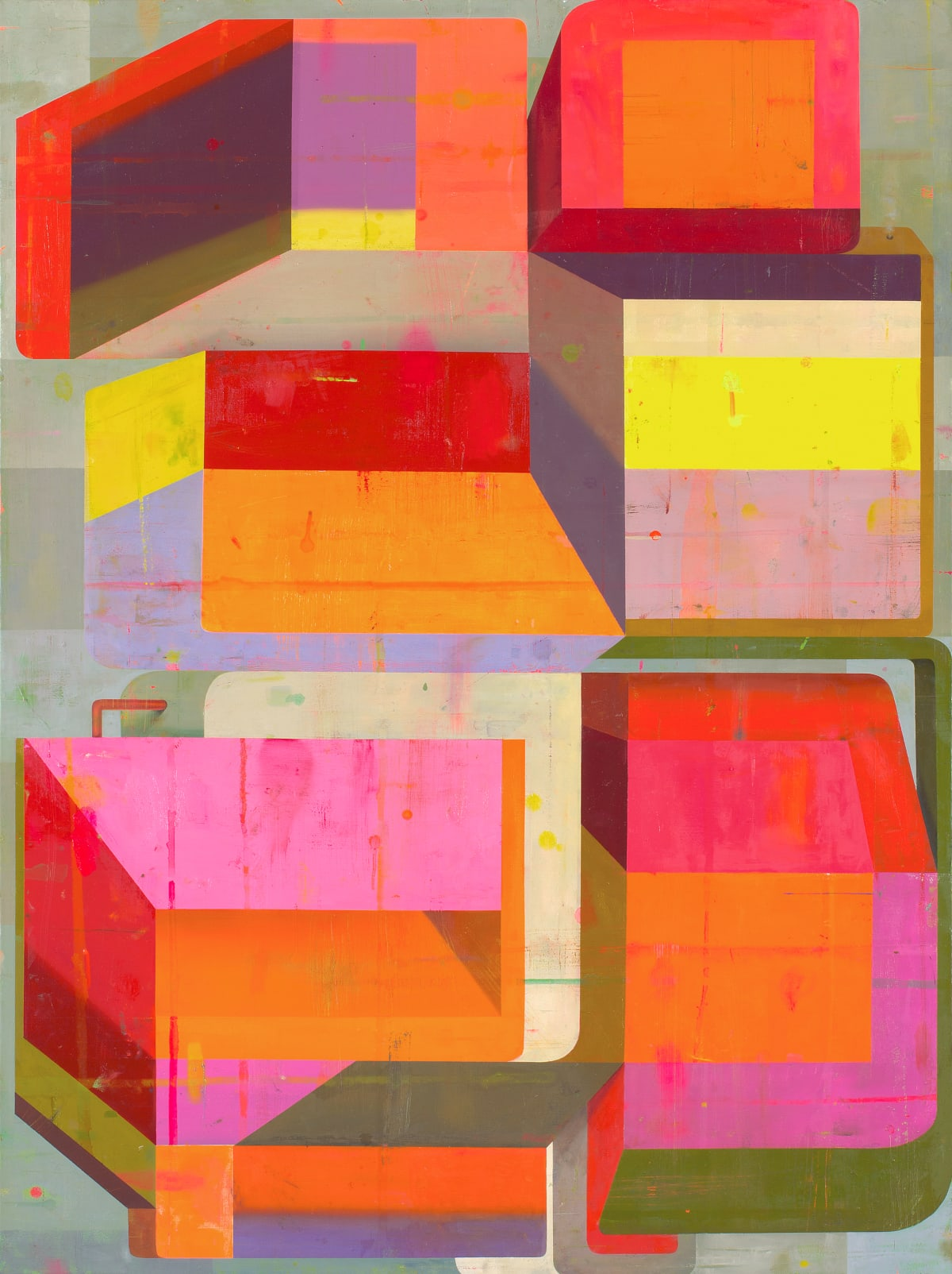 Deborah Zlotsky Detours and delays, 2019 oil on canvas 36 x 48 in.