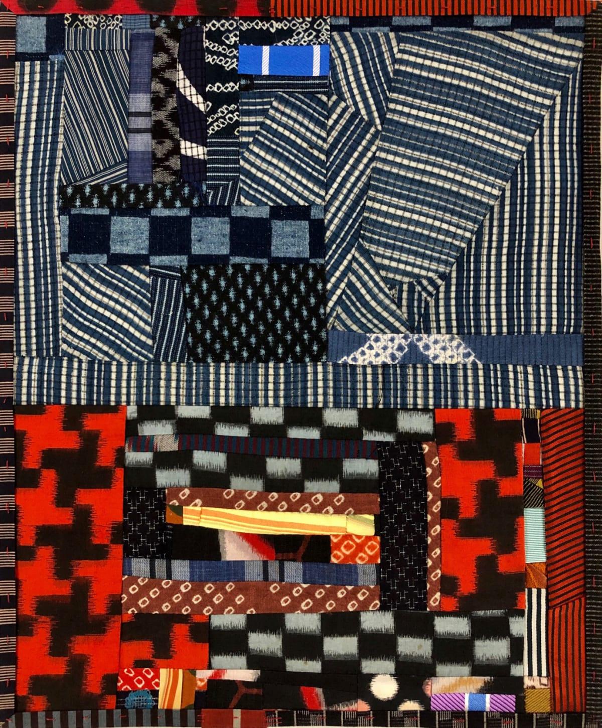 Debra Smith Talking Stories 1, 2020 pieced vintage silk 13 1/2 x 11 1/4 in