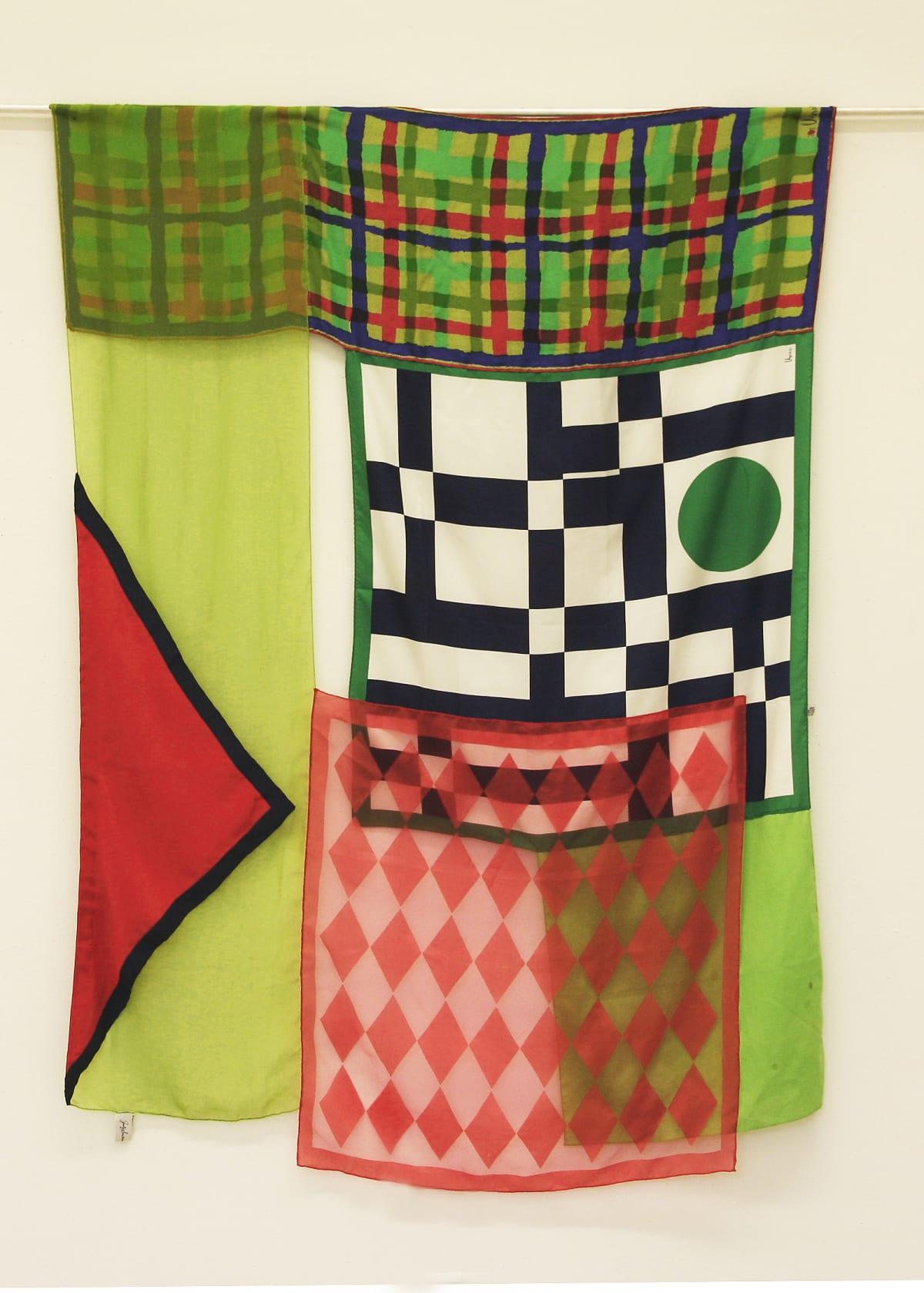 Deborah Zlotsky Stop and go, 2019 vintage scarves 57 x 44 in.