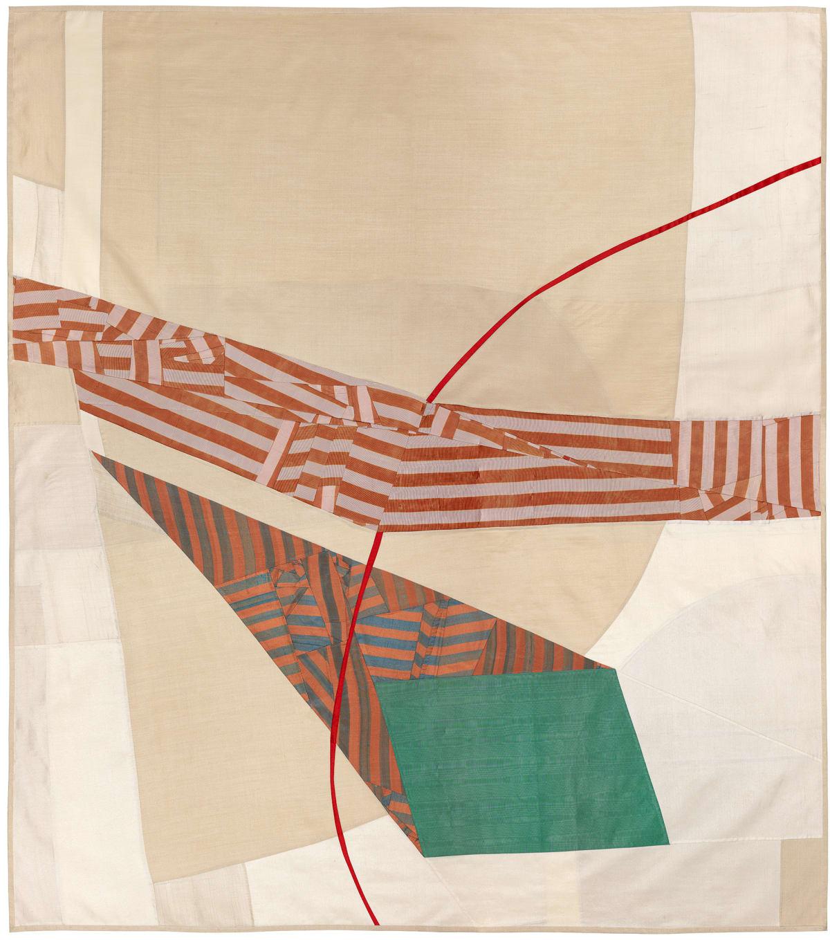 Debra Smith Silence is Unclear, 2, 2015 pieced vintage silk 58 x 51 in.