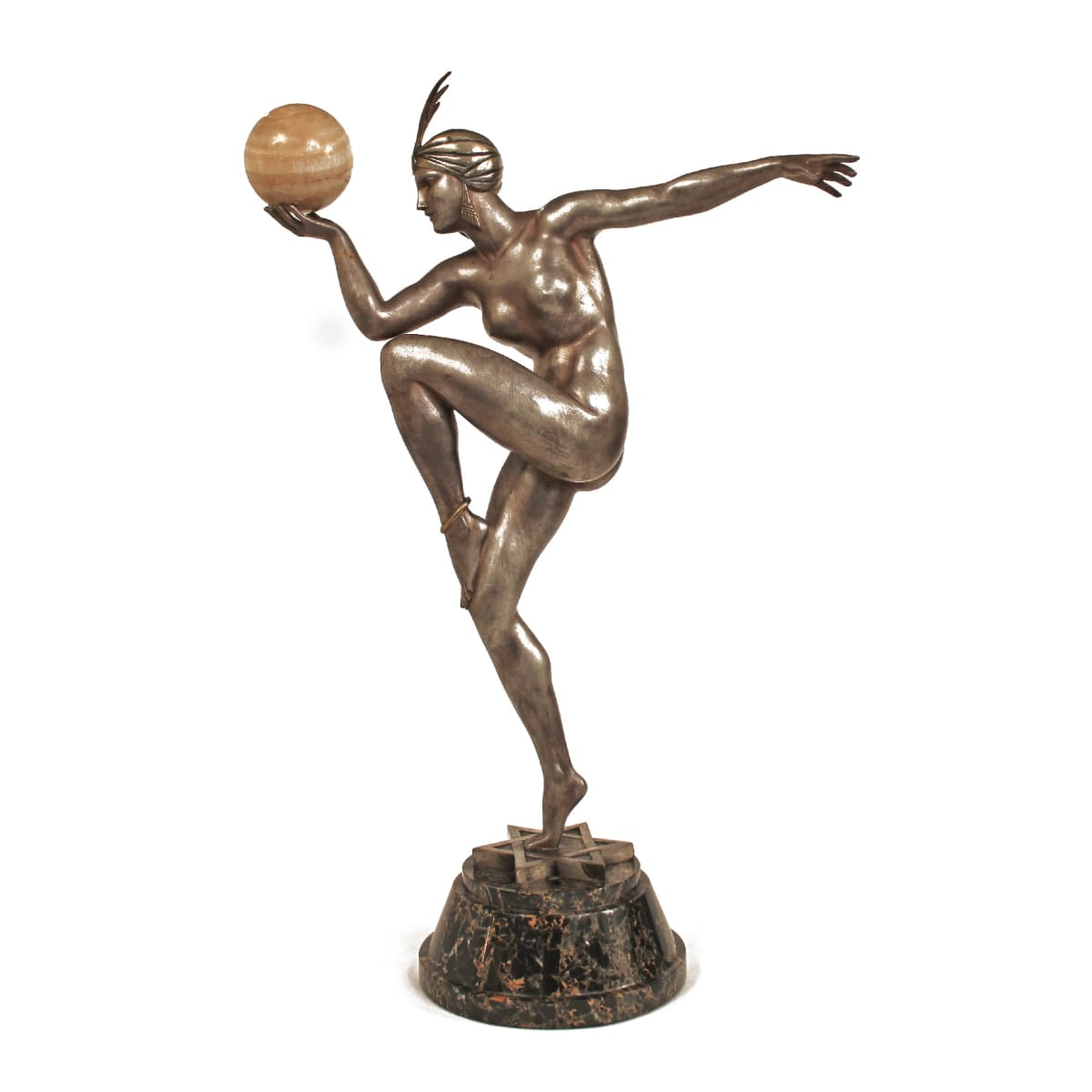 Maurice Guiraud-Riviere Stella , 1925 Casted bronze & Marble 26 in. Height