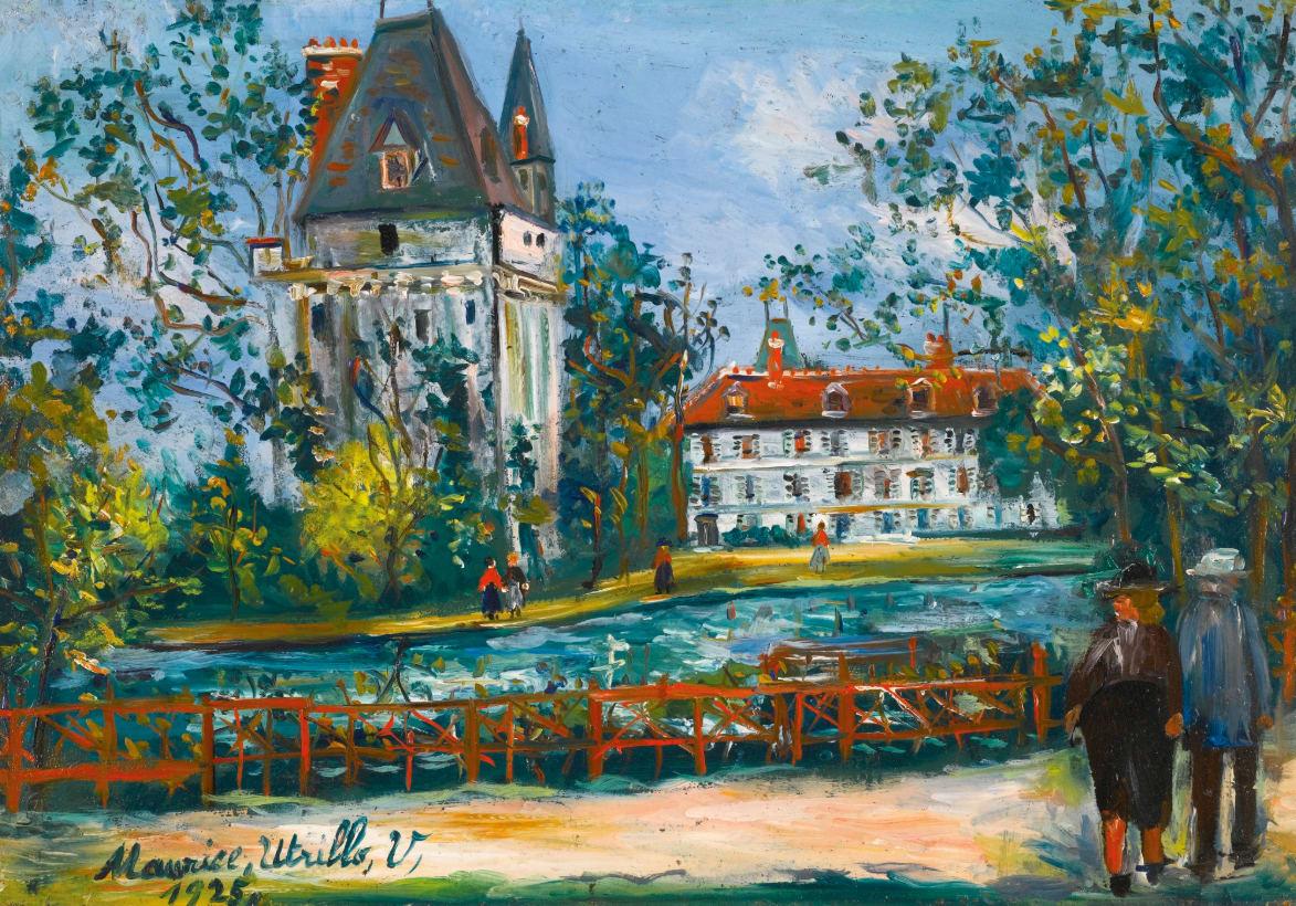 Maurice Utrillo (1883-1955), Château de Saintines, Oise, 1925