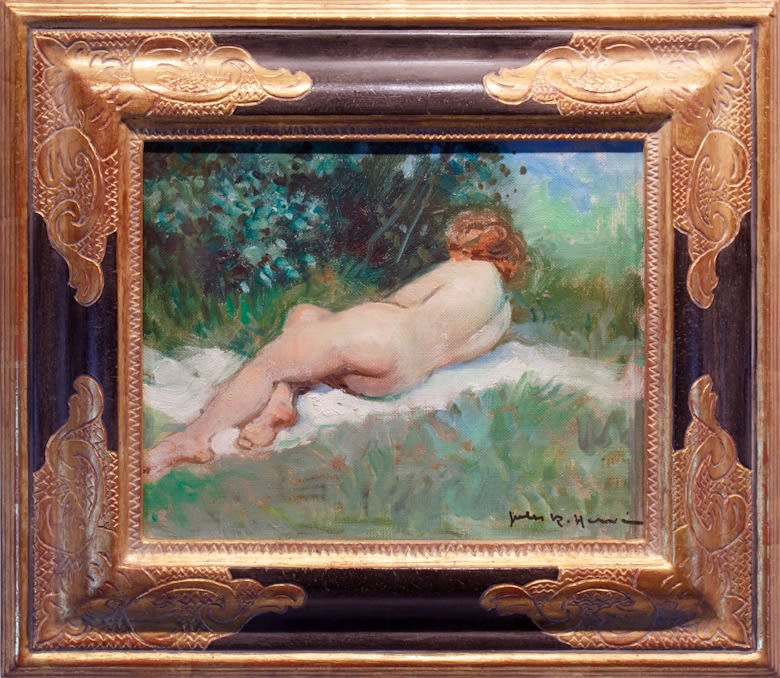 Jules R. Herve, Reclining Female Nude