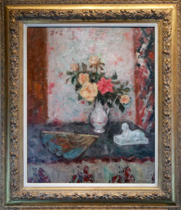 Georges D'Espagnat, Vase des Roses, éventail et Sphinx