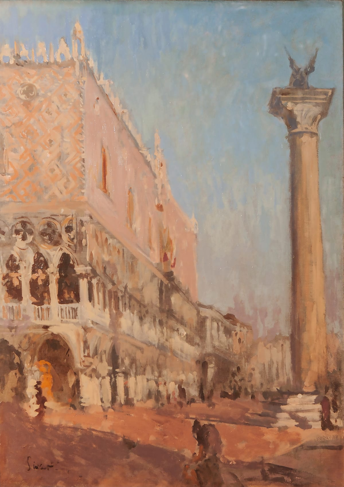 Walter Richard Sickert (British, 1860-1942), Doge's Palace, Venice , circa 1901