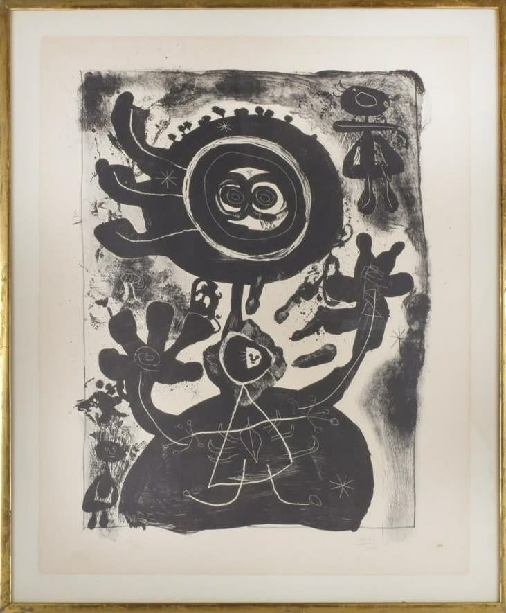 Joan Miro, Grand Personnage Noir, 1948