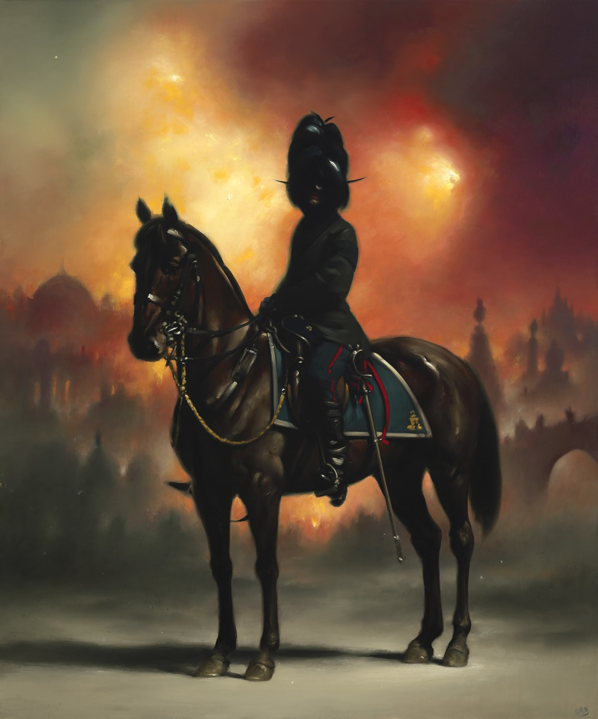 Stephen Appleby-Barr, Dark Messenger with a Burning City, 2019