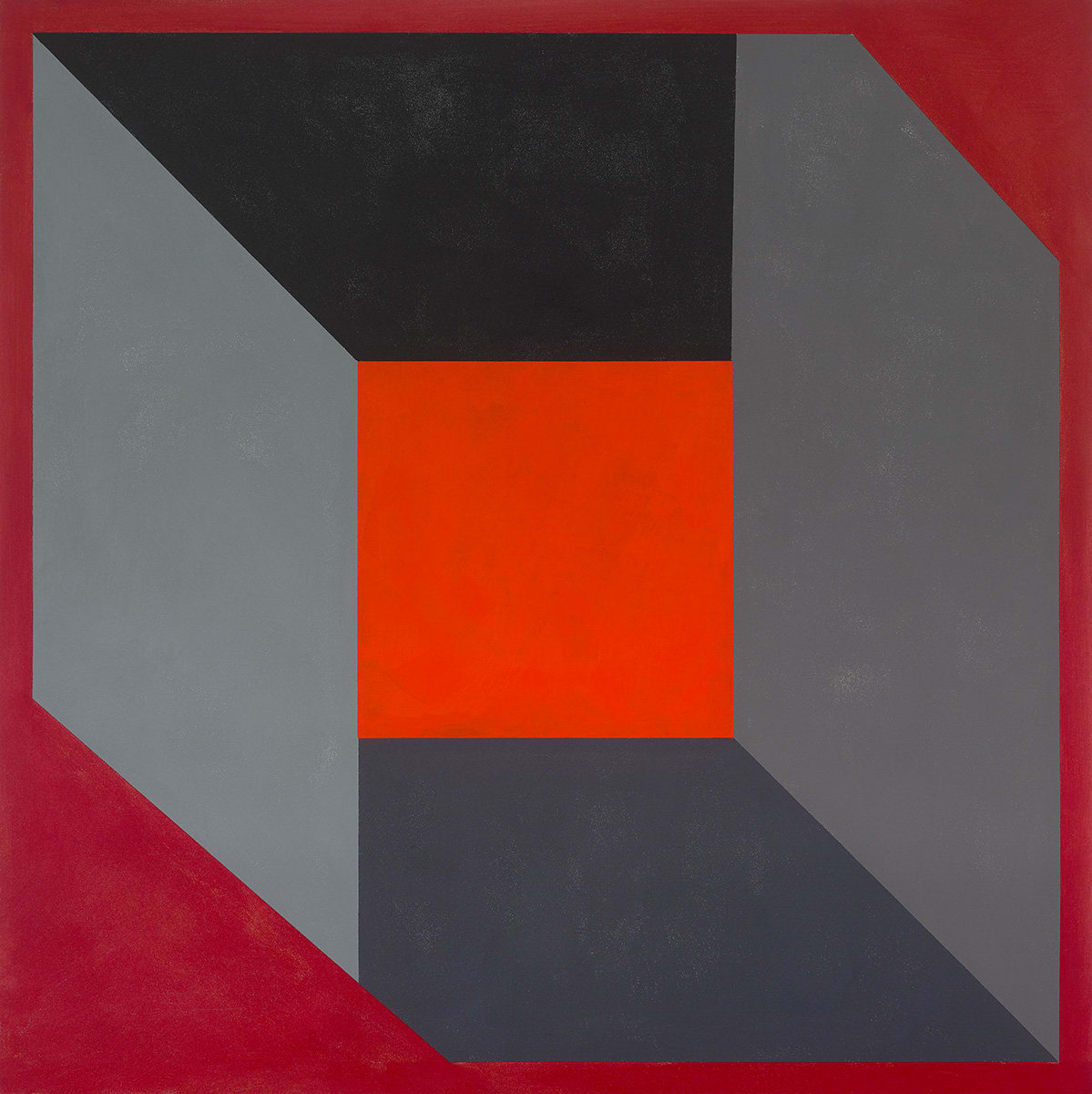 Ric Evans, Revealed Forms Red, 2018