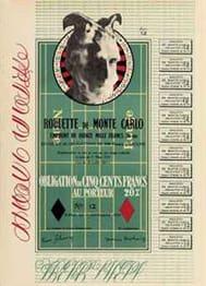 Marcel Duchamp Obligations pour la roulette de Monte Carlo, 1938