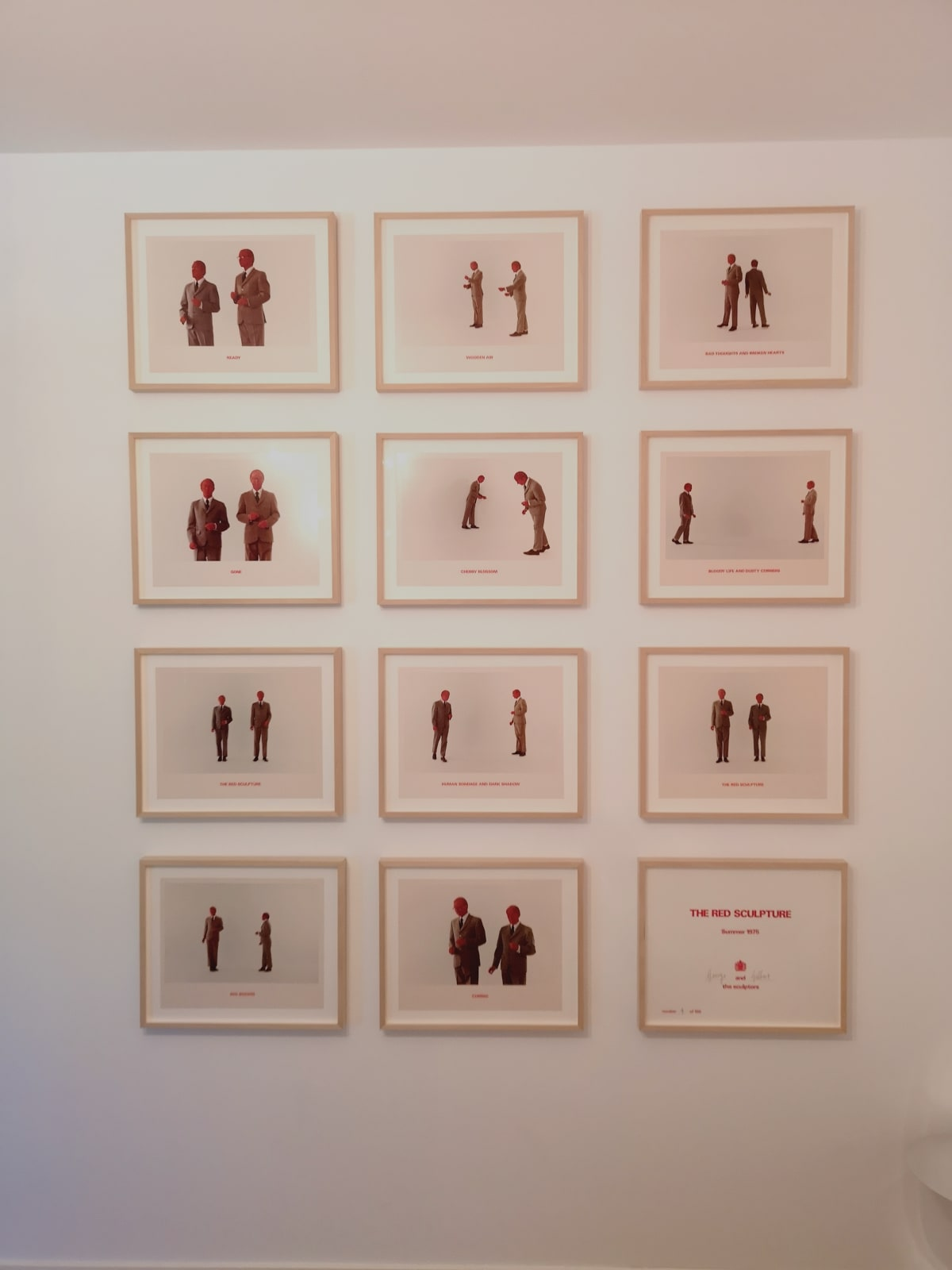 GILBERT & GEORGE, The Red Sculpture, 1975