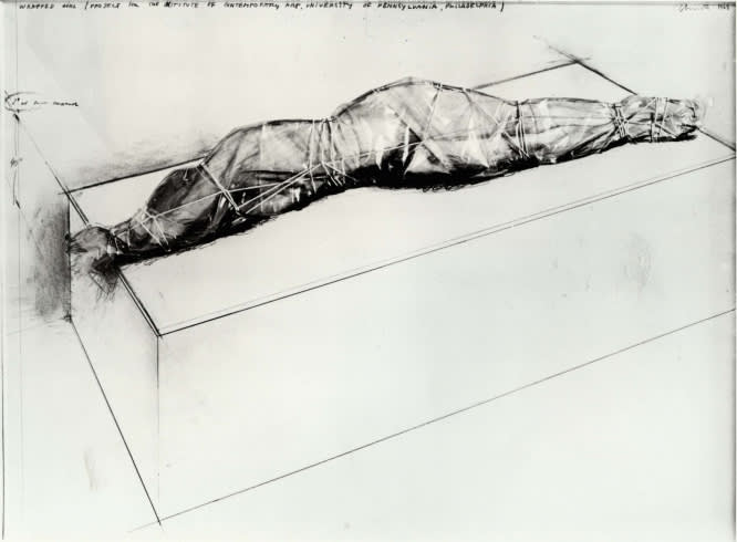CHRISTO Wrapped Girl, 1968