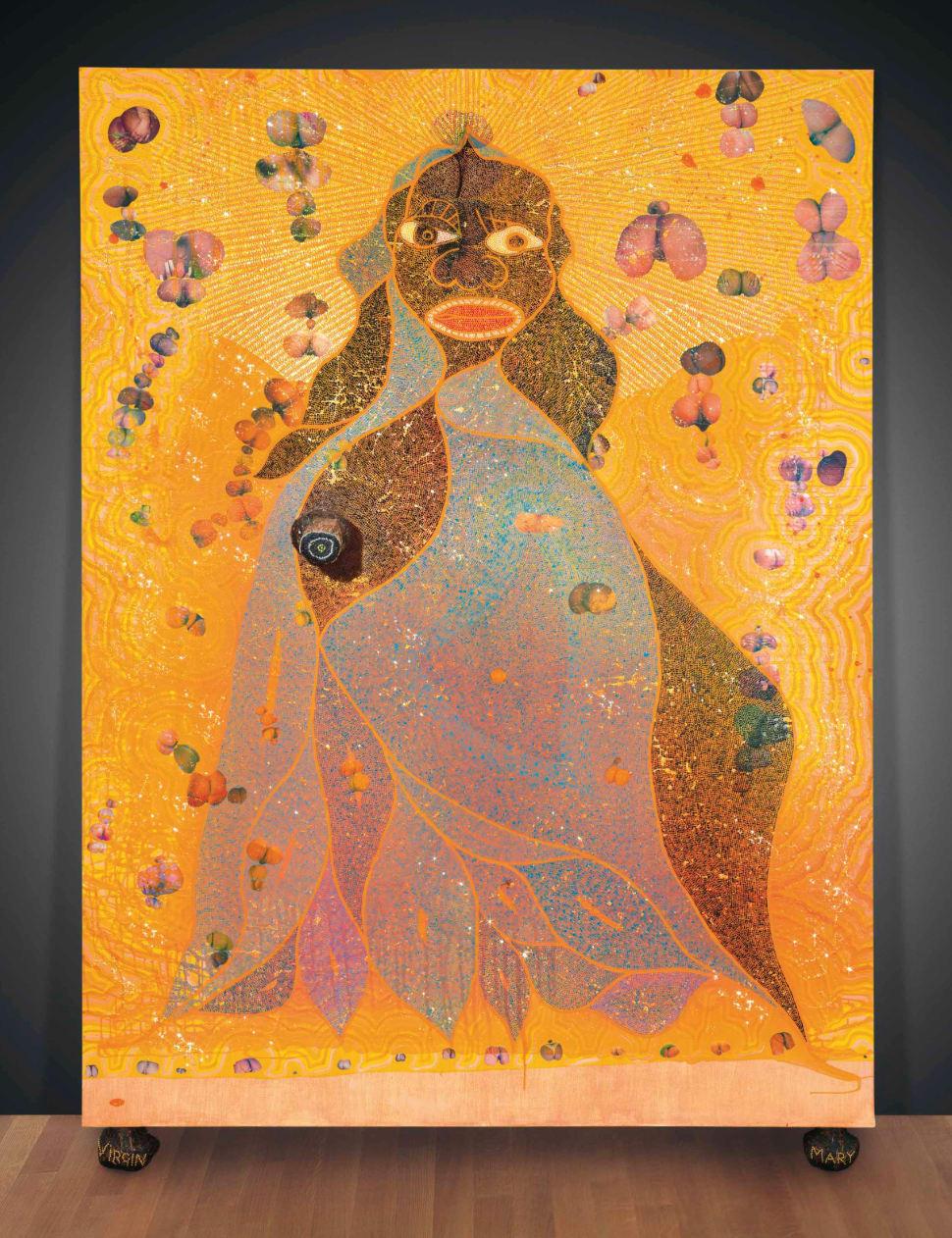 Chris OFILI The Holy Virgin Mary, 1996