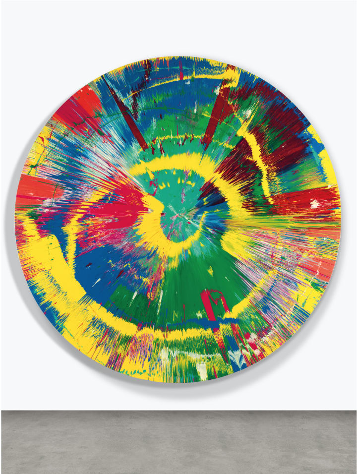 HIRST Damien, Beautiful Mis-shapen Purity Clashing Excitedly Outwards Painting, 1995